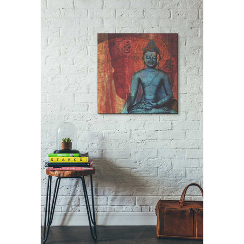 'Blue Buddha' by Elena Ray Canvas Wall Art,26 x 26