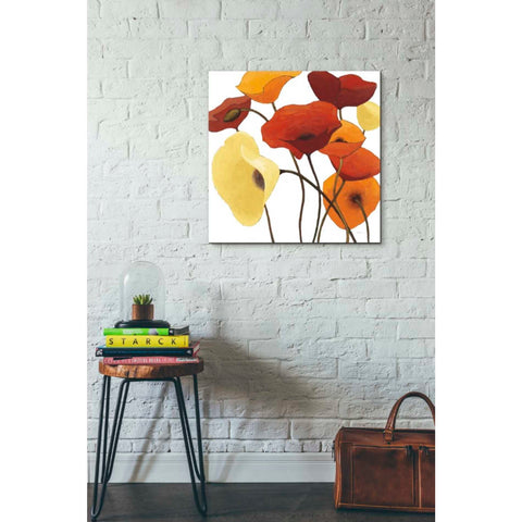 'Up One on White Yellow' by Shirley Novak, Giclee Canvas Wall Art