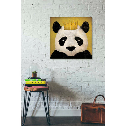'Panda with Crown' by Ryan Fowler, Giclee Canvas Wall Art