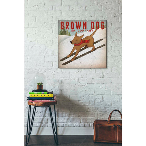 'Brown Dog Ski Co' by Ryan Fowler, Giclee Canvas Wall Art