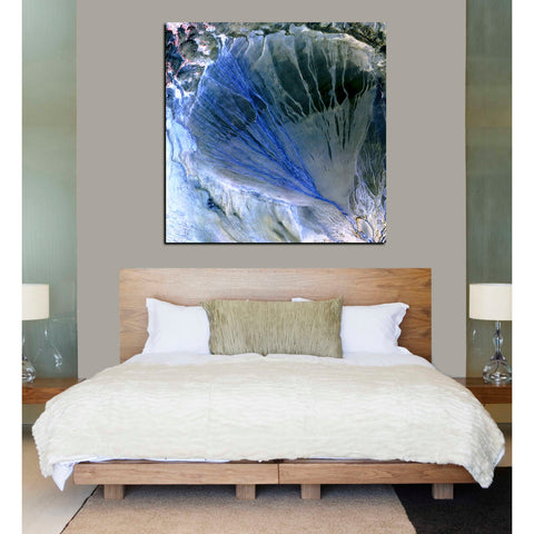 'Earth As Art: Alluvial Fan' Acrylic Wall Art,26 x 26