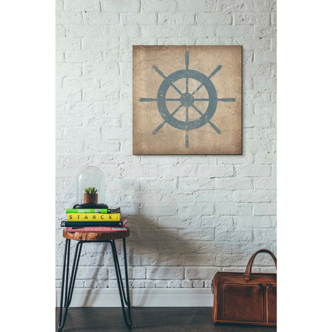 'Nautical Shipwheel' by Ryan Fowler, Giclee Canvas Wall Art