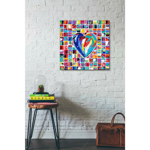 'Hearts of a Different Color I' by Carolee Vitaletti Giclee Canvas Wall Art