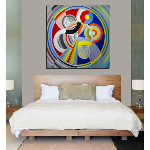 Image of 'Rythme n1' by Robert Delaunay Canvas Wall Art,26 x 26