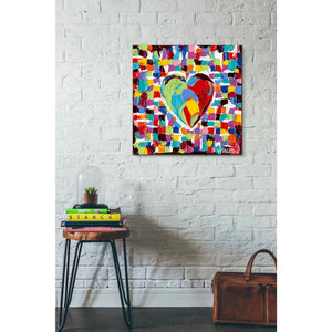 'Mosaic Heart I' by Carolee Vitaletti Giclee Canvas Wall Art