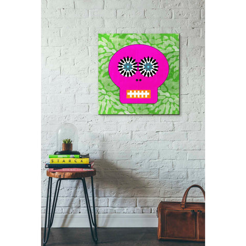 'Day Of The Dead II' by Linda Woods, Canvas Wall Art,26 x 26