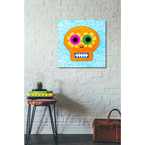 'Day Of The Dead IV' by Linda Woods, Canvas Wall Art,26 x 26