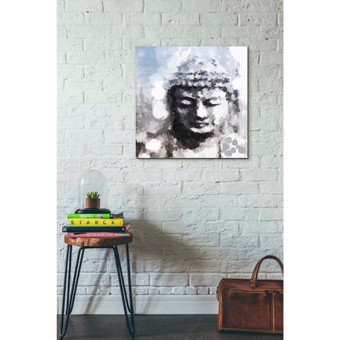 'Peaceful Buddha I' by Linda Woods, Canvas Wall Art,26 x 26