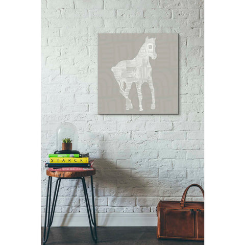 'Modern Farm Horse III' by Linda Woods, Giclee Canvas Wall Art