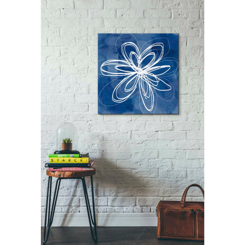 'Painted Sky Flower' by Linda Woods, Canvas Wall Art,26 x 26