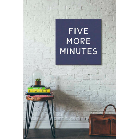 'Five More Minutes' by Linda Woods, Canvas Wall Art,26 x 26