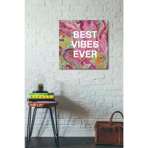 'Best Vibes Ever' by Linda Woods, Canvas Wall Art,26 x 26