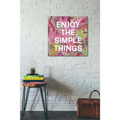 'Enjoy The Simple Things' by Linda Woods, Canvas Wall Art,26 x 26
