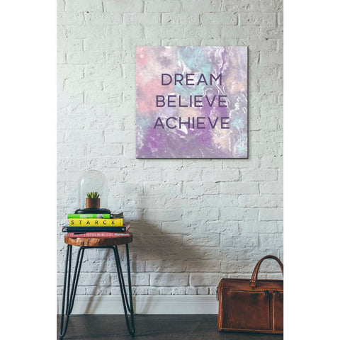 'Dream, Believe, Achieve' by Linda Woods, Canvas Wall Art,26 x 26