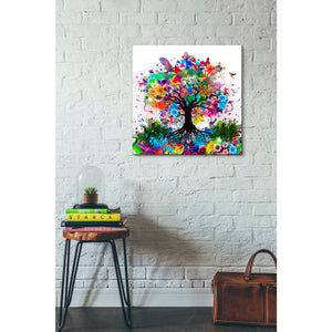 'Kaleidoscope Tree White' Giclee Canvas Wall Art
