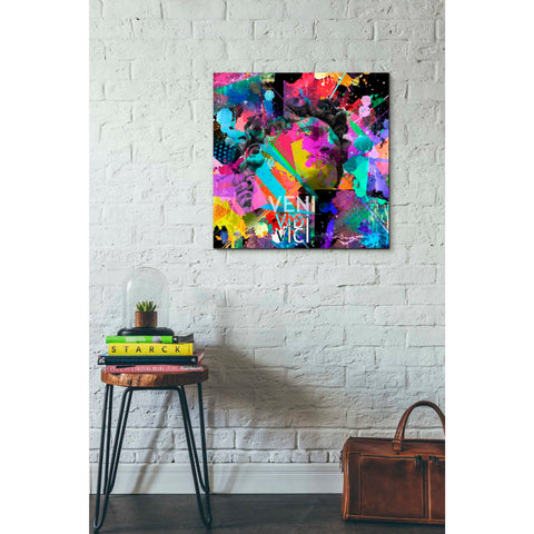 'Michelangelo's David Color' Canvas Wall Art,26 x 26