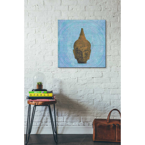 'Buddha on Blue' by Elena Ray Canvas Wall Art,26 x 26
