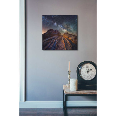 'The Martian Landscape' by Darren White, Canvas Wall Art,26 x 26