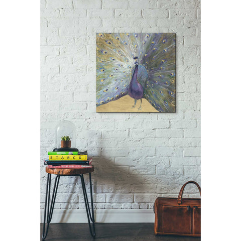 "Image of ""Purple And Gold Peacock"" by Danhui Nai, Giclee Canvas Wall Art"