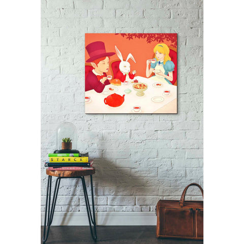 'Alice's Tea Party' by Sai Tamiya, Giclee Canvas Wall Art