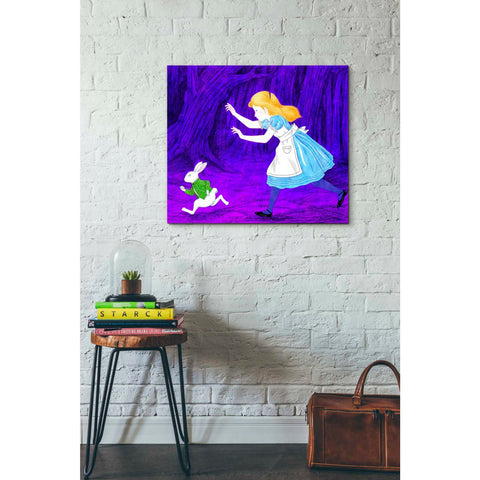 'Alice's and the Rabbit' by Sai Tamiya, Giclee Canvas Wall Art