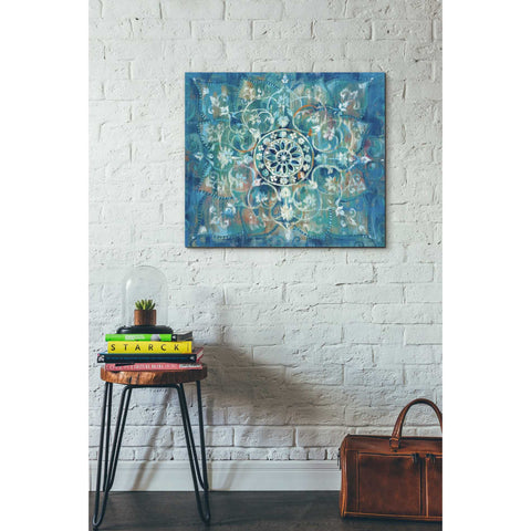 "Image of ""Mandala in Blue I"" by Danhui Nai, Giclee Canvas Wall Art"