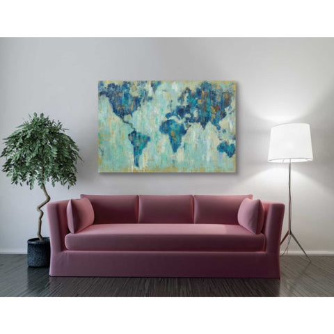 """Map Of The World"" by Silvia Vassileva, Giclee Canvas Wall Art"