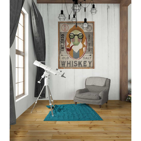 'Fisherman II Old Salt Whiskey' by Ryan Fowler, Giclee Canvas Wall Art
