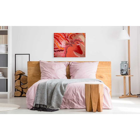 Image of 'Red Peacock' by Zigen Tanabe, Giclee Canvas Wall Art