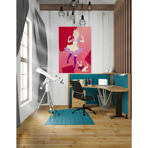 Image of 'Alice Falling' by Sai Tamiya, Giclee Canvas Wall Art