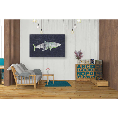 """Shark I"" by Linda Woods, Giclee Canvas Wall Art"