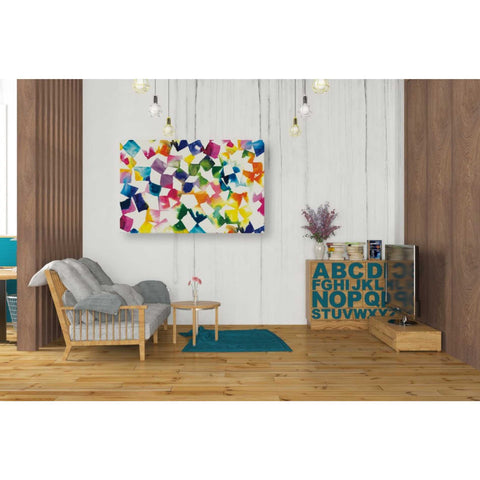 'Colorful Cubes' by Wild Apple Portfolio, Canvas Wall Art,26 x 40
