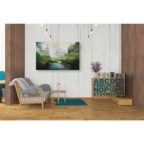 'Peaceful River' by Jonathan Lam, Giclee Canvas Wall Art