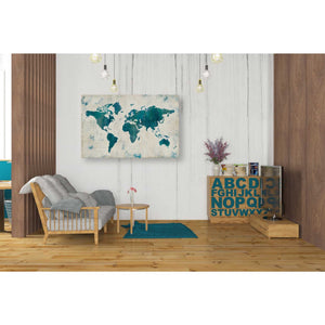 'Discover the World Blue' by Melissa Averinos, Giclee Canvas Wall Art