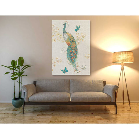 'Ornate Peacock IXA' by Daphne Brissonet, Giclee Canvas Wall Art