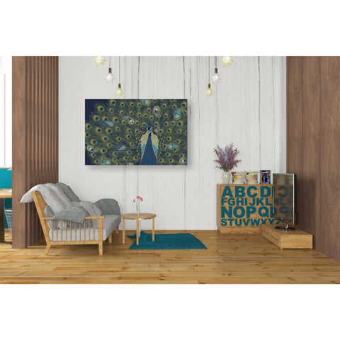Image of 'Peacock Paradise VI' by Veronique Charron, Giclee Canvas Wall Art