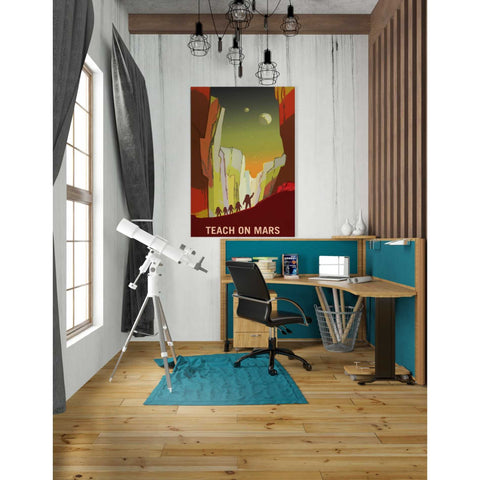 "Image of ""Mars Explorer Series: Teach on Mars"" Space Giclee Canvas Wall Art"