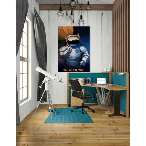 "Image of ""Mars Explorer Series: We Need You"" Giclee Canvas Wall Art"