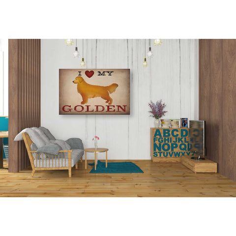 'Golden Dog at Show Love III' by Ryan Fowler, Canvas Wall Art,26 x 40