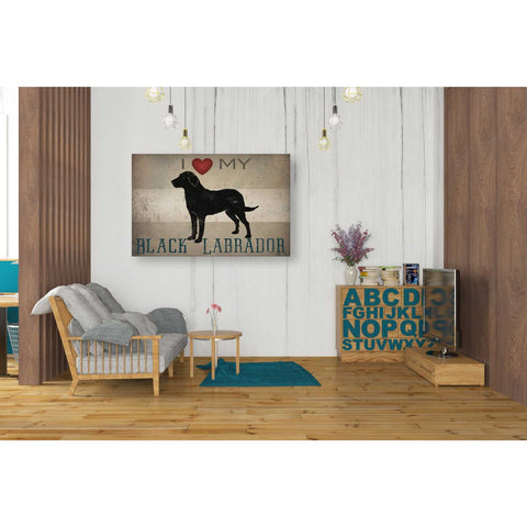 'Labrador Love I' by Ryan Fowler, Giclee Canvas Wall Art