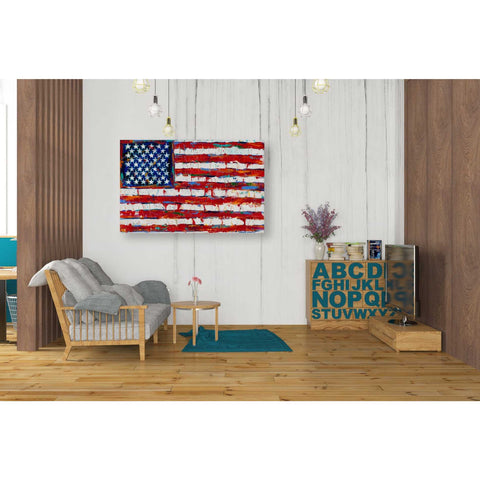 Image of 'Dramatic Stars & Stripes' by Carolee Vitaletti Giclee Canvas Wall Art