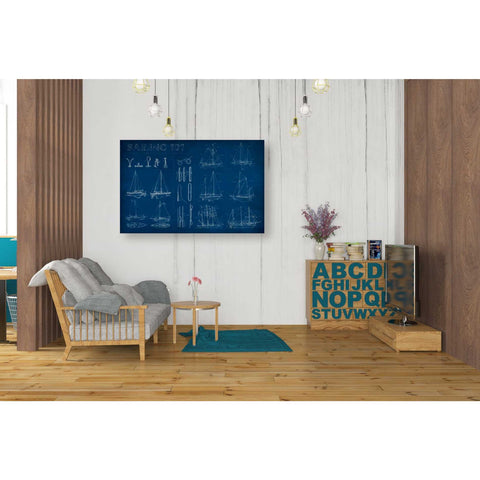 'Sailing Infograph' by Ethan Harper Canvas Wall Art,40 x 26