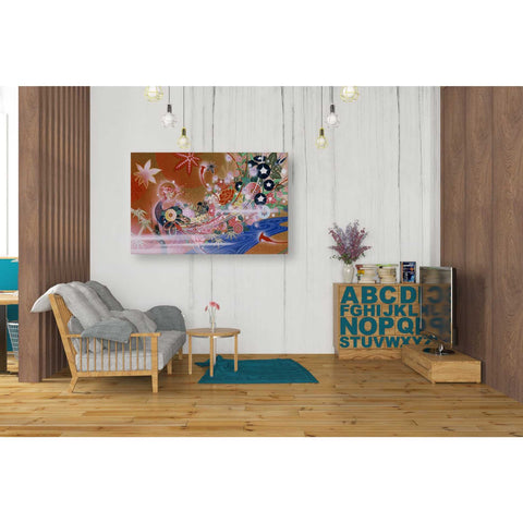 Image of 'Flowers Peacock' by Zigen Tanabe, Giclee Canvas Wall Art