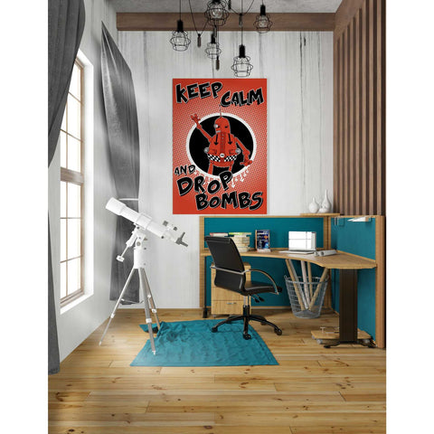 """Keep Calm and Drop Bombs"" by Craig Snodgrass, Giclee Canvas Wall Art"