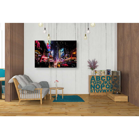 """Neon New York City"" by Nicklas Gustafsson, Giclee Canvas Wall Art"