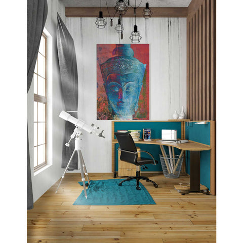 'Blue Buddha Head' by Elena Ray Canvas Wall Art,26 x 40