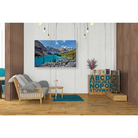 "Image of ""Valley of the Ten Peaks,"" Giclee Canvas Wall Art"