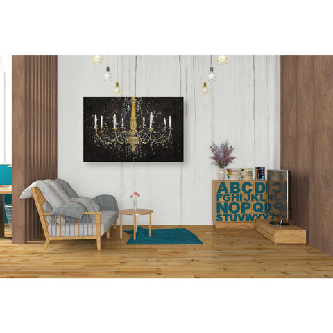 """Grand Chandelier Black I"" by James Wiens, Giclee Canvas Wall Art"