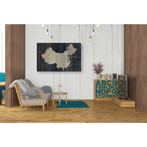 'Old World Map China' by Wild Apple Portfolio, Canvas Wall Art,26 x 40