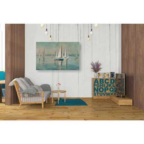 """Sailboats At Sunrise"" by Danhui Nai, Giclee Canvas Wall Art"